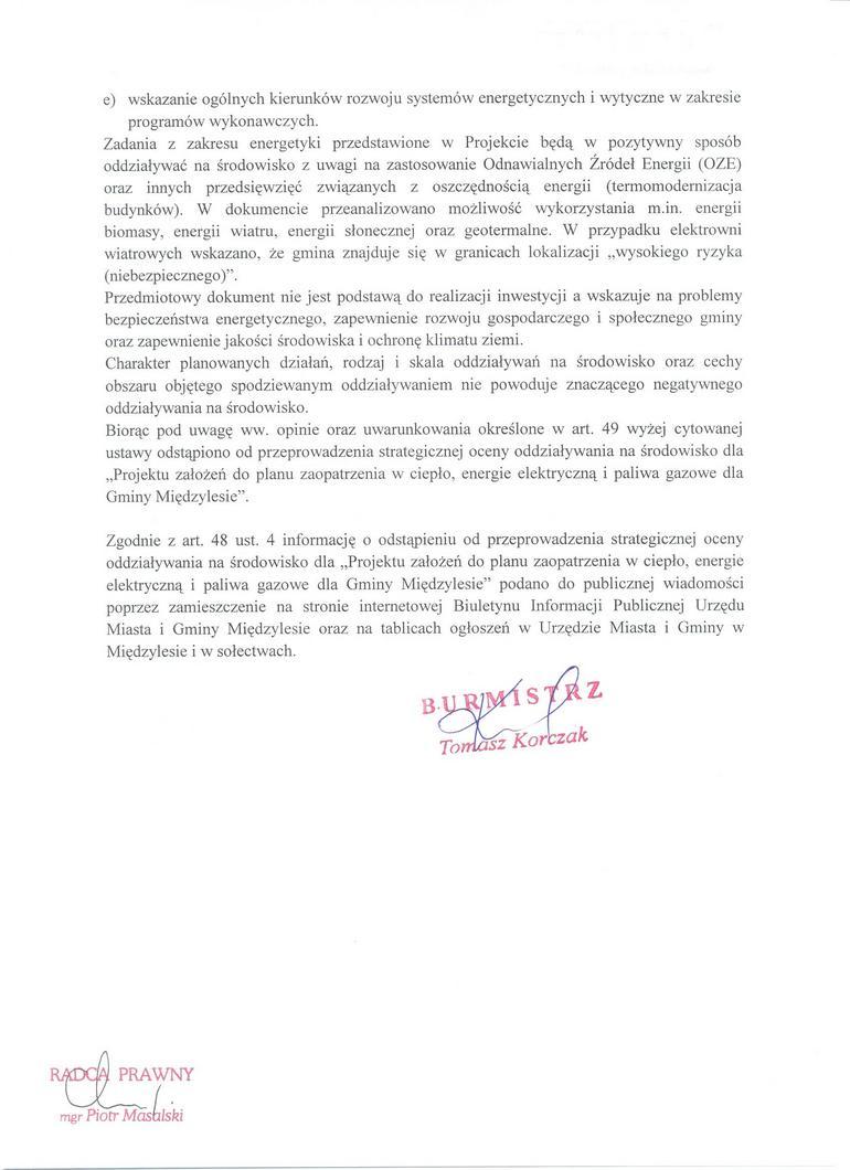 Obwieszczenie Burmistrza Miedzylesia o odstąp od s oceny-2.jpeg